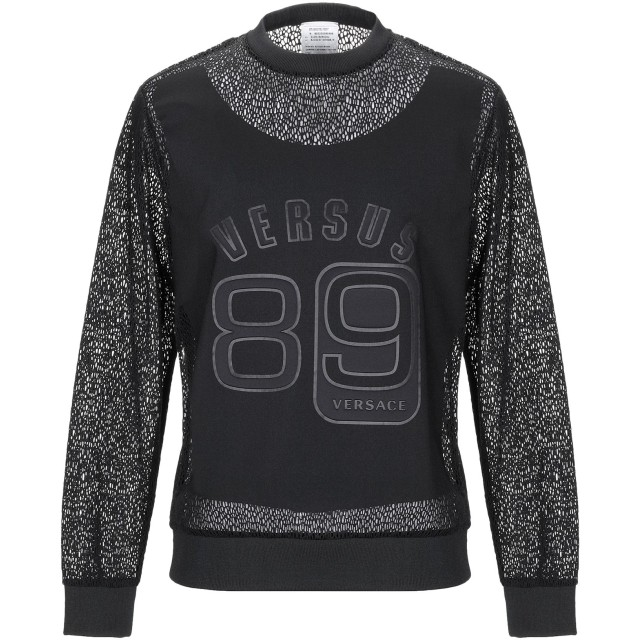 《期間限定 セール開催中》VERSUS VERSACE メンズ スウェットシャツ ブラック M コットン 53% / ナイロン 47%