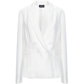 《期間限定 セール開催中》ARMANI JEANS レディース テーラードジャケット ホワイト 42 ポリエステル 100%