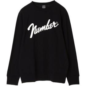 NUMBER (N)INE 【NUMBER (N)INE】number9_LARGE SWEATSHIRT スウェット,BLACK