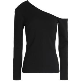 《期間限定セール開催中!》L'AGENCE レディース T シャツ ブラック XS レーヨン 93% / ポリウレタン 7%