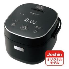 シャープ ジャー炊飯器 (3合炊き) ブラック SHARP KS-CF05AのJoshinオリジナルモデル KS-JC5-B 返品種別A