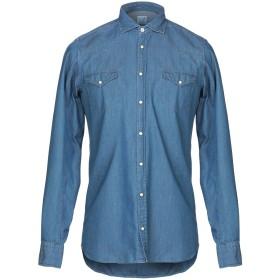 《期間限定セール開催中!》ALESSANDRO GHERARDI メンズ デニムシャツ ブルー S コットン 100%