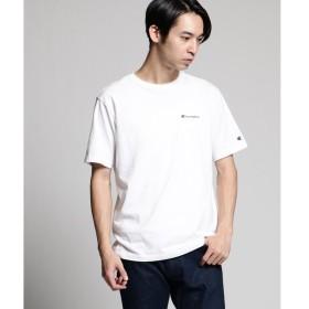 tk.TAKEO KIKUCHI / ティーケー タケオキクチ Champion for tk.TAKEO KIKUCHI ロゴ刺繍Tシャツ