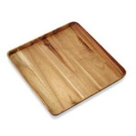 かのりゅう Organic Cafe(オーガニックカフェ) 木製食器 OC アカシアスクエアプレートL L17-8-7s