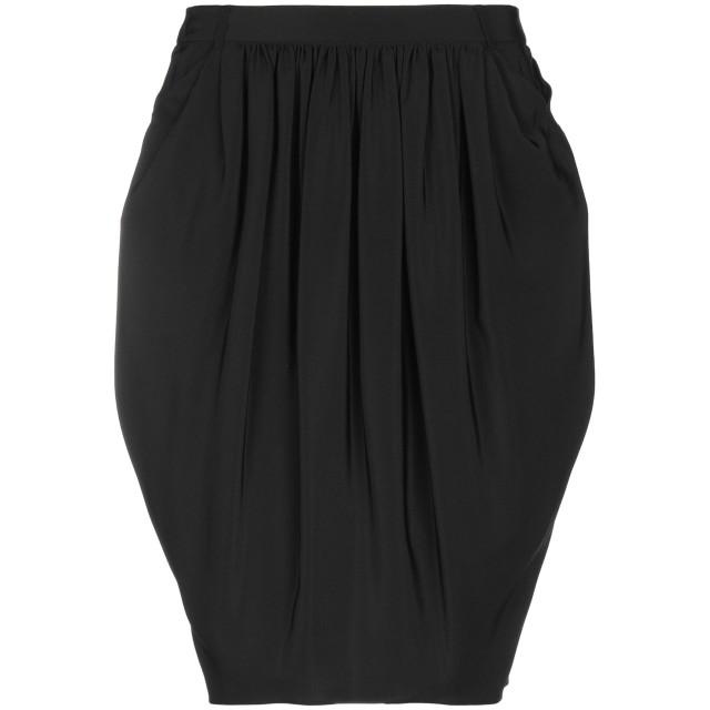 《セール開催中》ASPESI レディース ひざ丈スカート ダークブルー 40 シルク 100%
