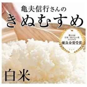 稲美金賞農家 亀尾信行さんのきぬむすめ白米約4.5kg