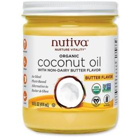オーガニックココナッツオイル バター風味 414ml Nutiva(ヌティバ)