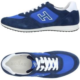 《セール開催中》HOGAN メンズ スニーカー&テニスシューズ(ローカット) ブルー 5 革 / 紡績繊維