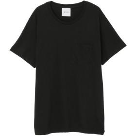 SISE BACK PRINT T-SHIRT Tシャツ・カットソー,ブラック