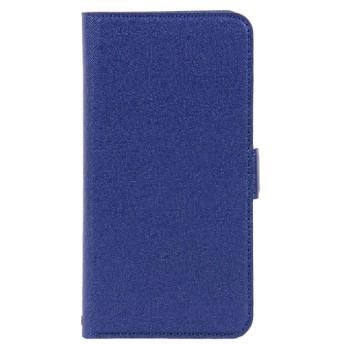 iPhone XR用 サフィアーノ調 落下防止手帳ケース BKS051IP861BO ミッドナイトブルー