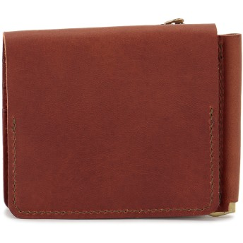 SLOW SLOW スロウ 財布 ウォレット toscana -compact wallet(money clip with coin & card pocket)- 財布,キャメル