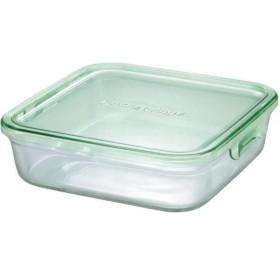 イワキ(iwaki) 耐熱ガラス パック&レンジ BOX(大) グリーン K3248N-G