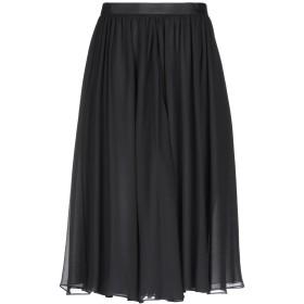 《期間限定 セール開催中》EMPORIO ARMANI レディース ひざ丈スカート ブラック 40 シルク(マルベリーシルク) 100% / レーヨン