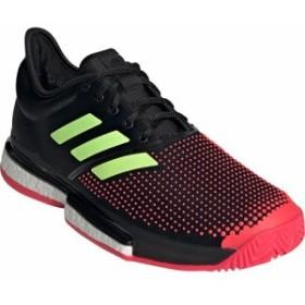 078155506c1aa8 アディダス(adidas) メンズ テニスシューズ ソールコート ブースト マルチコート ブラック/イエロー/