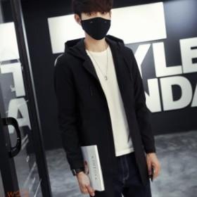 メンズファション メンズジャケット カジュアルジャケット 紳士服 薄手 ロング 秋春用コート アウター