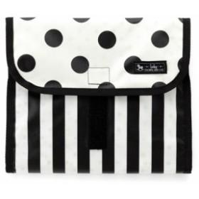 8851da7b35327a おむつポーチ クラッチタイプ polka dot large(broadcloth・white) B1404900