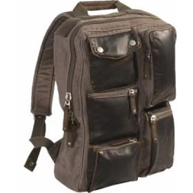 ルレックス バッグ バッグパック リュックサック メンズ【Laurex Stylish Backpack】Brown