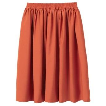 選べる2レングス ポリエステル素材 ギャザースカート ZZY0119A0007