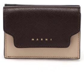 MARNI TRUNK マルチカラーミニウォレット 財布,ライトキャメル
