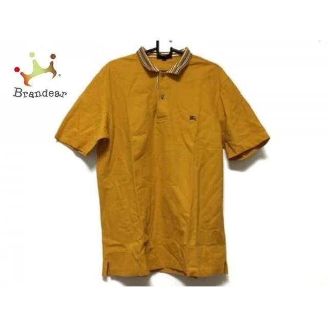 50fd5df43ca298 バーバリーロンドン Burberry LONDON 半袖ポロシャツ サイズL メンズ 美品 イエロー×黒×白