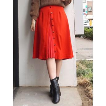 [MERCURYDUO]フロントプリーツ切替スカート