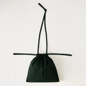 [ 再入荷 ]formuniform[フォームユニフォーム]Drawstring Bag S With Strap-ショルダー付巾着バッグSグリーン