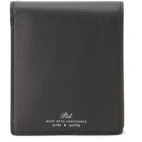 P.I.D P.I.D ピーアイディー イタリアンレザー二つ折り財布 財布,クロ