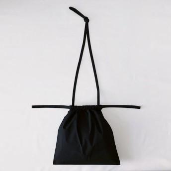 [ 再入荷 ]formuniform[フォームユニフォーム]Drawstring Bag S With Strap-ショルダー付巾着バッグSブラック