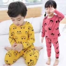 子供服 可愛い パジャマ 100 サイズ 120 110 80 部屋着 ユニセックス 防寒 2点セット キッズ 90 寝巻きラウンドネック