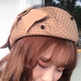 ベレー帽 リボン リボン付き 2018 レディース帽子 春 冬 ベージュ 秋冬 おしゃれ 可愛い 秋 女性用 レディース 帽子 ベレー帽子 キャップ