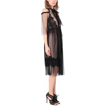 《セール開催中》TRUE DECADENCE レディース 7分丈ワンピース・ドレス ブラック 12 ナイロン 100% / ポリエステル / ポリウレタン