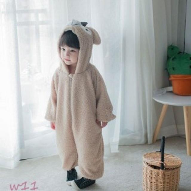 e0f7b0d3af7 キッズ ベビー モコモコ 80- 冬 男女共用 赤ちゃん 綿 厚手 クリスマス 熊ちゃん着ぐるみ 可愛い