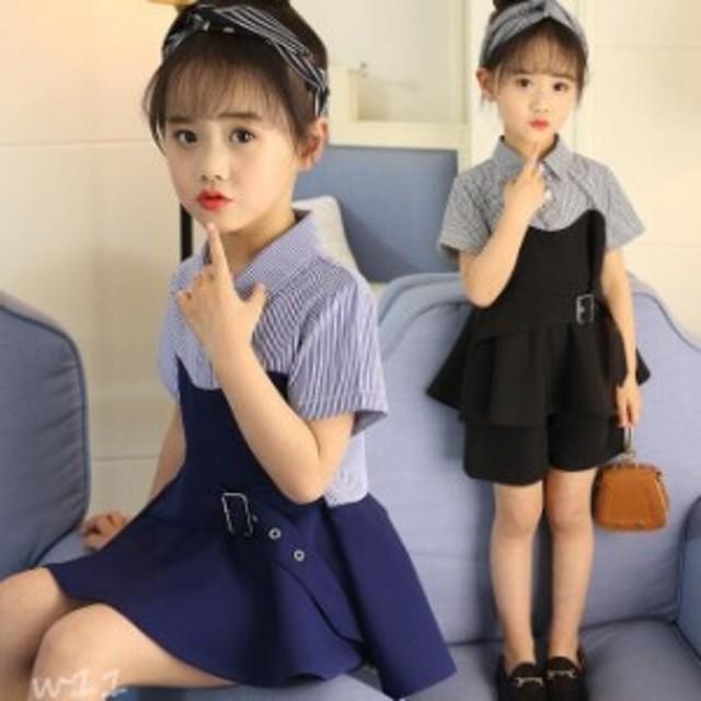 女の子 子供服 2018 Tシャツ ショートパンツ 入学式 新品 130 発表会 2点セット 夏着 120 2点セット 個性 お嬢様風 半袖 140 150