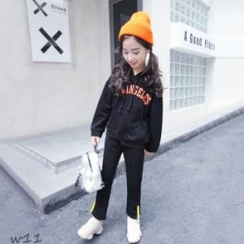 子供服 キッズ 女の子 110- 不規則裾 着心地良い 切り替え 上下セット レジャー 綿95% お出かけ スポーツセット 女児 2色選べる