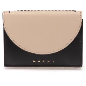 MARNI LAW バイカラー 三つ折り財布 財布,ライトキャメル