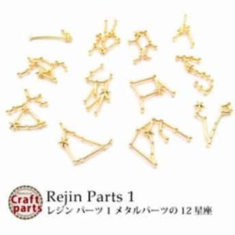 レジン パーツ 1 メタルパーツの12星座 各種1個入り
