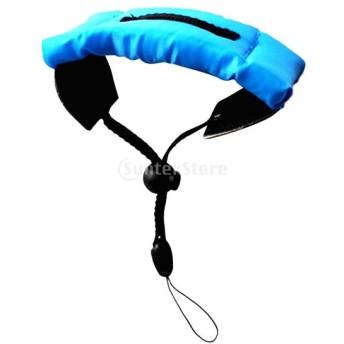 防水 フローティング フォーム 手首ストラップ アームハンド 水中 カメラ用 全3色 - ブルー