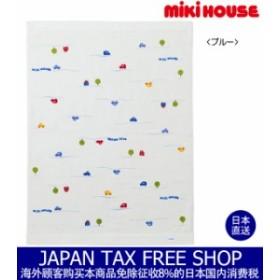 ミキハウス正規販売店/ミキハウス mikihouse (ベビー)くるま柄タオルケット