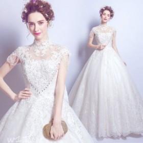 ウェディングドレス エンパイア 二次会ドレス 花嫁ドレス カラードレス ロングドレス 成人式 演奏会 パーティー 大きいサイズ イブニング