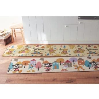 キッチンマット 洗える すべりにくい ディズニー おしゃれ くまのプーさん 44×120