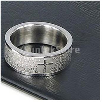 ノーブランド品男性指輪 リング ステンレス鋼リング サイズ7