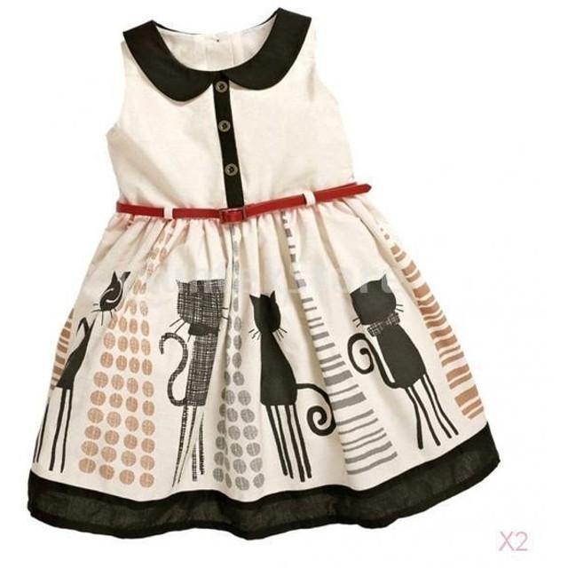 d0ec79abe80f4 ノーブランド品 2セット キッズ 女の子 夏 服 サンドレス プリンセスドレス チュチュスカート ベルト