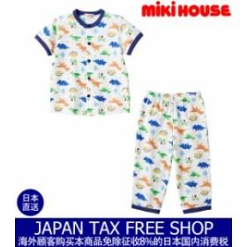 ミキハウス正規販売店/ミキハウス mikihouse 動物いっぱい☆前開き半袖パジャマ(80cm-140cm)