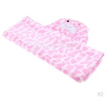 赤ちゃんドレッシングガウンバスローブタオル寝袋ラップブランケットフード付きピンク
