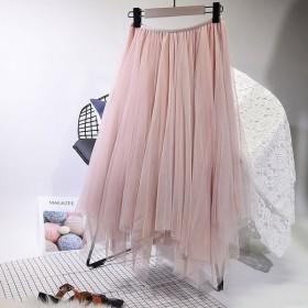 チュールスカート ロングスカート レディース ジグザグ裾 ギザギザ裾 大人可愛い 可愛い かわいい カジュアル レディーススカート ジグザグ ギザギザ