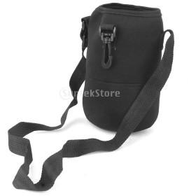 ノーブランド品 2000ML 水筒保護カバー 水筒カバー 柔らかいケース スポーツ水筒保護カバー 黒