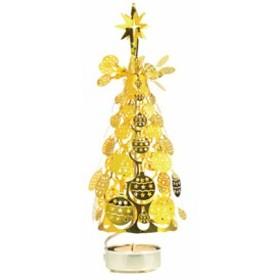 ロータリー クリスマスツリー オーナメント ゴールド  キャンドルホルダー / 飾り / クリスマスグッズ / プレゼント