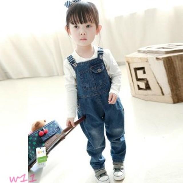デニムオーバーオール デニムジーパン 普段着 韓国子供服 子供服ジンズ 韓国こども お揃い ジュニア 子供服デニムパンツ