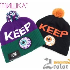 ≪セール≫ MISHKA/ミシカ ニットキャップ ボンボン付き キープウォッチ/B系/メンズ /ヒップホップ/ストリート ニット帽