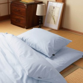 20色から選べる綿100%の日本製枕カバー 「ピュアブルー」